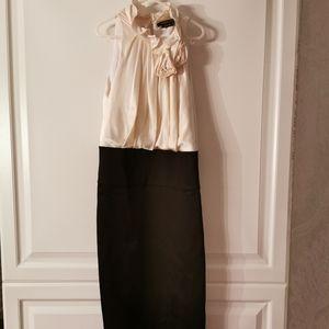BCBG SILK CONTRAST DRESS SIZE 0